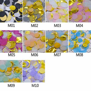 10g 2.5cm Mixcolor Tissue Paper Confetti Sprinkles Filling Balloons Scatter Confetti Wedding Table Decoration Supplies
