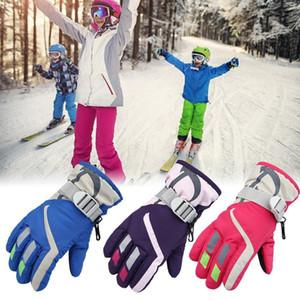 Erkek Çocuklar Kız Karmobil Kış Sıcak Kayak Eldiven Spor Su geçirmez Windproof Kar Mitten Ayarlanabilir Kayak Kayış Kayak Eldiven