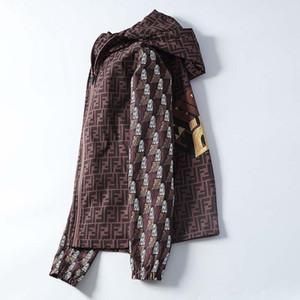 20 봄과 여름 새로운 더블 FF 오래된 꽃 인쇄 패션 야생 양면웨어 후드 자켓 스포츠 용 재킷의 일종 재킷 얇은 섹션 남성 TID