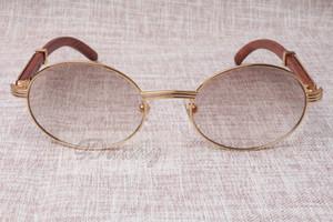 Occhiali da sole all'ingrosso- rotondi Horn Horn 7550178 Occhiali da sole uomini e donne in legno Glasess Eyewear Dimensioni: 55-22-135mm