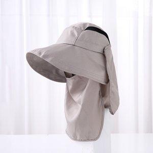 UV Koruma Güneş Şapkası Kadınlar Erkekler Açık Kamp Yüz Boyun Kapak Işık Nefes Hızlı Hat Önlemek Sivrisinek Caps Caps