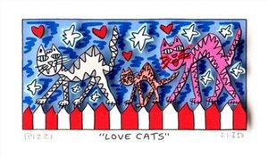제임스 리치 - 캔버스 벽 예술 캔버스 그림 191221 회화 LOVE CATS 홈 인테리어 지에 handpainted 오일