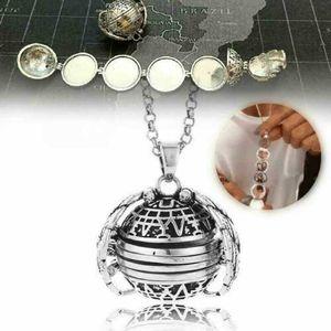 2020 HOT Sellling Magia Romantic Espansione 5 Locket della foto della collana d'argento a sfera Angel Wings Pendant Memorial Gifts