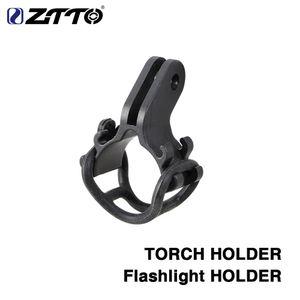 Ztto bicicleta luz lanterna suporte suporte lanterna para bicicleta de estrada mtb bicicleta peças ajustadas para montagem gopro