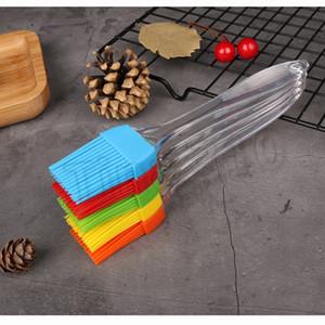 Силиконовая масляная щетка для выпечки барбекю Наметочная щетка прозрачная ручка DIY инструменты для приготовления пищи силиконовые щетки для кухни кемпинг инструмент T2I5733