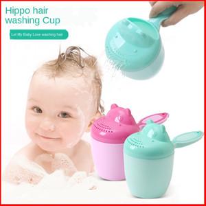 2020 Yeni Çocuk Şampuan Kupası Bebek Şampuanı Kupa Anne ve Bebek Hediye Toplu Hippo
