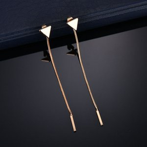 Fashion Triangle Tassel Kette Ohrringe Anti-Allergie-Ohrringe für Frauen Lange Ohrringe Boucle d'oreille Femme 2019 E2302