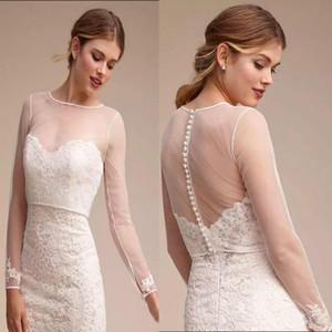 White Tulle Long Sleeve Bridal Bolero Ivory Wedding Jacket Transparent Custom Made Appliques Bridal Party Coat