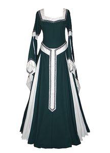 Halloween Costume Feminino Bruxa Cosplay Gothic vestido longo Medieval Renaissance Prom Dress
