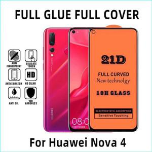 Für Huawei Mate30 Lite Mate20 20 30 P30 Mate-P30LITE P20 PR0 P Smart z Plus Y5 Y6 Y7 Y9 2019 21D Volle Deckung volle Kleber aus gehärtetem Glas