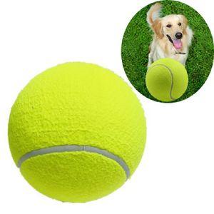 Los 24CM pelota de tenis inflable para perros de compañía de materiales de alta calidad de higiene ambiental juguetes creativos mordisco al aire libre de suministros de mascotas interactivas