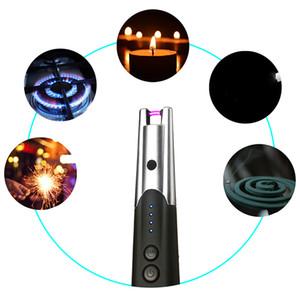 Çakmak Hediye Uzun Boyun Ateşleme Aracı İçin Mutfak Taşınabilir Elektrikli Ark Windproof Şarj Mum Çakmak Metal Sigara Çakmaklar USB