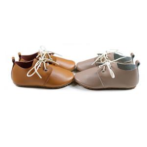 영국 스타일 어린이 캐주얼 신발 정품 가죽 소년 학교 신발 봄 가을 아기 소녀로 퍼 신발 Y190525
