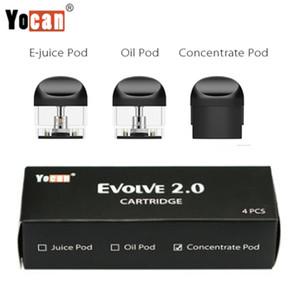 Orijinal Yocan Evolve 2.0 Yedek Kapsüller Boş Kartuşları Kalın Yağ Pod Ejuice Wax Pod'umuz 4adet Başına Paketi E Sigara Vaporizer Vape Kapsüller