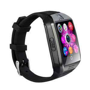 Smart Montre Homme d'affaires WatchBluetooth Smart Montre Q18 Avec écran tactile de soutien TF carte SIM caméra Smartwatch Q18S pour Android