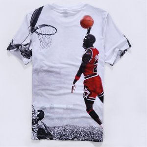 Дизайнерская футболка Футболка Летний топ горячие продажи короткие рукава топы спортивная рубашка повседневная 3D печатный номер 23 футболка для мужчин