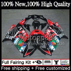 Cuerpo para HONDA CBR600RR F3 CBR600FS CBR 600 F3 97 98 48PG16 CBR 600F3 FS CBR600F3 CBR600 F3 1997 1998 Carenado Carenado JOMO Rojo blk