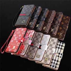 Doblar flip cobertura de la tarjeta de piel resistente Iphone Caso 11 Bolsillos Shell para el caso MAX Iphone XR XS con Hoder para Samsung Galaxy S9 S8 Plus