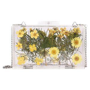 Ladies Transparent Wallet Small Daisy Chain Messenger Bag Small Square Bag Ladies Flower Handbag Shoulder