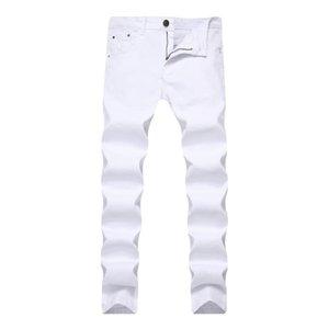 Jeans Hommes stretch Skinny Slim Couleur Denim Pantalon chino pour Pantalons Jeans Casual Hommes Hommes Sweat Vêtements Kaki Noir Rouge Blanc