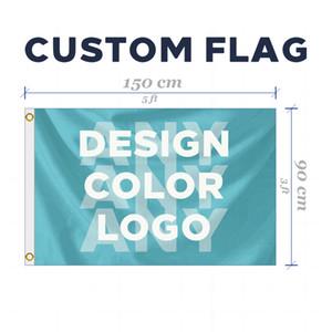 bandeira feita sob encomenda ou Faixa 3x5FT 150X90cm 100D Polyester Banner publicidade exterior ny interior projetar qualquer tamanho quaisquer imagens