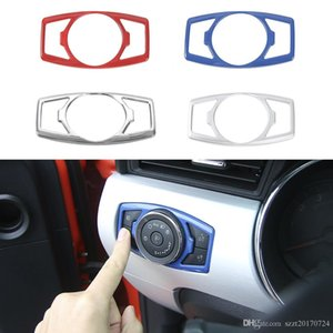 Car Head Light Button Switch Trim ABS Decoration Cover For Ford F150 2015+ Car Interior Accessories