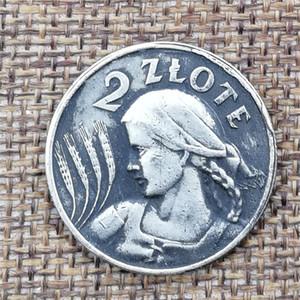 Poland 1924 Paris Edition 2 silver coins, silver coins, foreign diameter 22MM