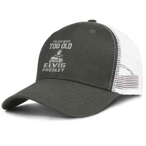 Вы никогда не слишком стар, чтобы слушать army_green Элвис для мужчин и женщин водитель грузовика бейсболки прохладный пользовательские Битник шляпы