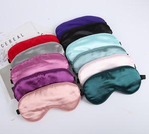 oeil pause des lunettes de sommeil de soie artificielle déjeuner de sommeil masque ombrage multi-couleurs masque pour les yeux d'ombrage WY530