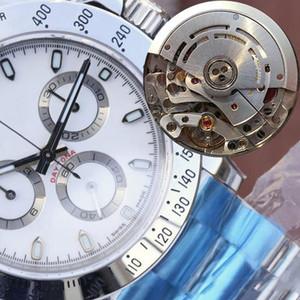 N Calidad 40mm Cosmograph 116500 116520 116506 116500LN 904L acero cronógrafo CAL.4130 ETA 4130 Movimiento de buceo automático del reloj para hombre