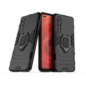 Pour Oppo Realme X50 Pro Case Bague ultra-mince dur PC couverture arrière luxe coloré autocollant de protection de cas pour OPPO Realme X50 Pro