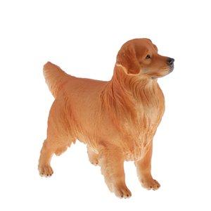 كبير الحجم واقعية الذهبي المسترد التماثيل، واقعية لعبة الكلب الشكل النادرة، 8.7 بوصة