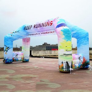 New arrival full printing 4 legs arch line,inflatable start finish line archway,free standing arch with free blower on discount