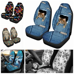 Five Styles Car Seat Cover Four Seasons Universal Personality Pattern Breathable Dust-proof Wear-resistant Interior Jewelry Gift
