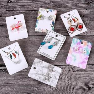 5x7cm الورق الملون NecklaceEarring بطاقات مجوهرات زخرفة عرض بطاقة حالة DIY HandMade GB404