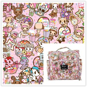 ZENGIA 50*148cm Pink Cartoon Polyester Canvas Fabric For Home Textile Sewing Diy Tablecloth Bag Cushion  Sofa Cover Curtain