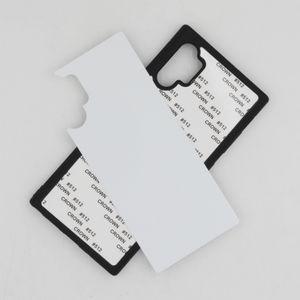 Caoutchouc TPU sublimation bricolage pour Samsung Galaxy Note 10 Note 10 ans qui feuilles métalliques en aluminium 100PCS