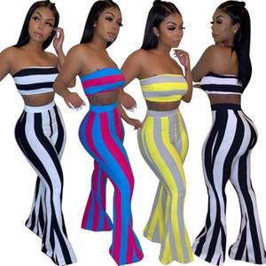 Chándal de diseñador de ropa deportiva para mujer verano sexy conjunto de 2 piezas traje de pantalón sin tirantes atractivo trotar traje deportivo sudadera trajes de moda klw1812