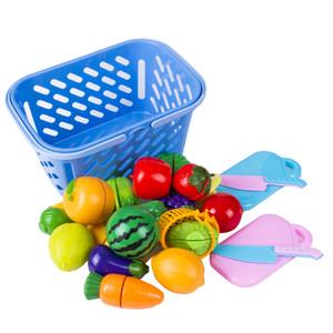 6PCS bambini Pretend Role Play Kitchen frutta verdura alimentare taglio Giocattoli figure