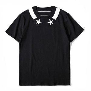 Luxury Summer T Shirt Double Star Tee High Quality Casual Letter Print Short Sleeve Black Men Designer T Shirt Tees Size S-XXL