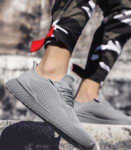 2020 summer new casual shoes men's trend breathable plus size casual shoes l flying woven shoes men's saiz 36-45