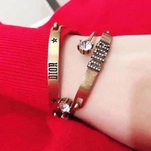Top brazalete punky de la calidad con el diamante blanco y estrellas y diseño de las palabras 3pcs en un sistema de la boda las mujeres PS5244 regalo de la joyería