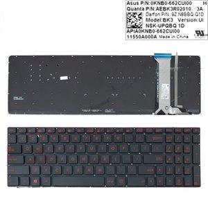 NOUVEAU clavier anglais pour ordinateur portable Asus G551 G551J G551JK G551JM G551JW G551JX G551VW N551 N551J N551JB N551JK rétro-éclairé Réparation Clavier US