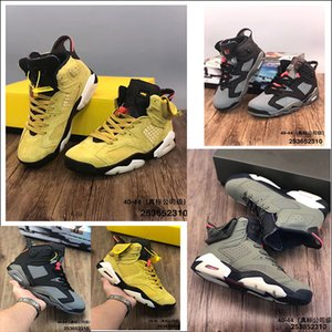 Begrenzt Travis x Houston High Quality Travis Scott x 6 6s Herren-Basketball-Schuhe CN1084-300 Kaktus Jack Weizen Gelb Jumpman Trainer Sneaker
