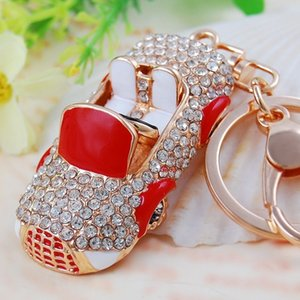Designer Car Keychain Korean Creative Gift Crystal Cute Mini Convertible Car Key Chain Female Bag Pendant Key Chain Ring