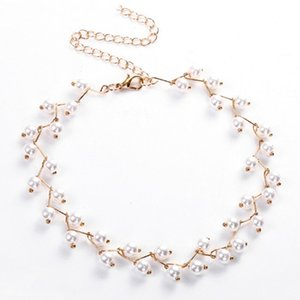 2020 Trendy Elegance Statement Necklace Charm Simulated Pearl Bead Choker Necklace For Women Kolye Collier Femme