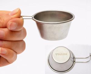 Ultralight Mini Çay Bardağı Açık Kamp Şarap Bardak 304 Paslanmaz Çelik Şarap Cam Bardak