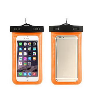 Funda impermeable universal de la cubierta para el iPhone Xiaomi Samsung PVC luminoso bolso del teléfono de la bolsa de playa en seco para el teléfono inteligente hasta 5,8 pulgadas