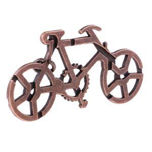 Bicicleta Fechamento do metal enigma Brain Teaser Mind Game Toy Aço Magia IQ Test