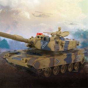 Kids 778-1 2 3 4 Simulation 1:24 RC Battle Tank Toys Crawler Light Remote Control Heavy Machine Tanks Toys For Children Gift